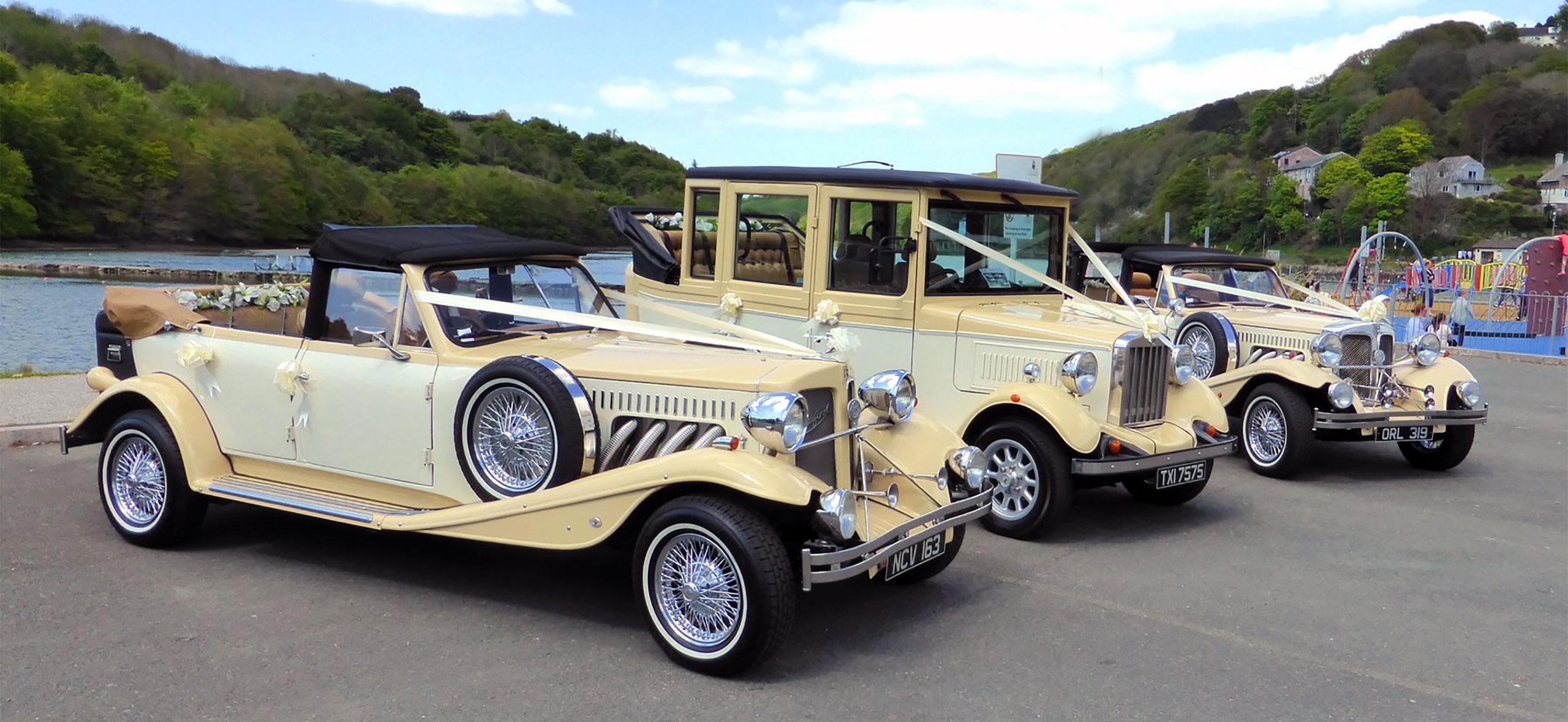 vintage wedding car hire cornwall